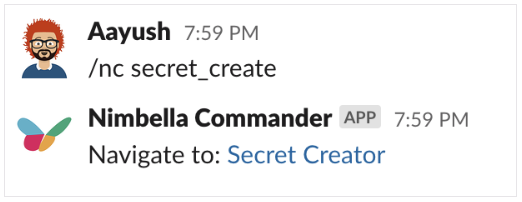 DigitalOcean bill displayed in Slack by generating the secret creating in Nimbella Commander