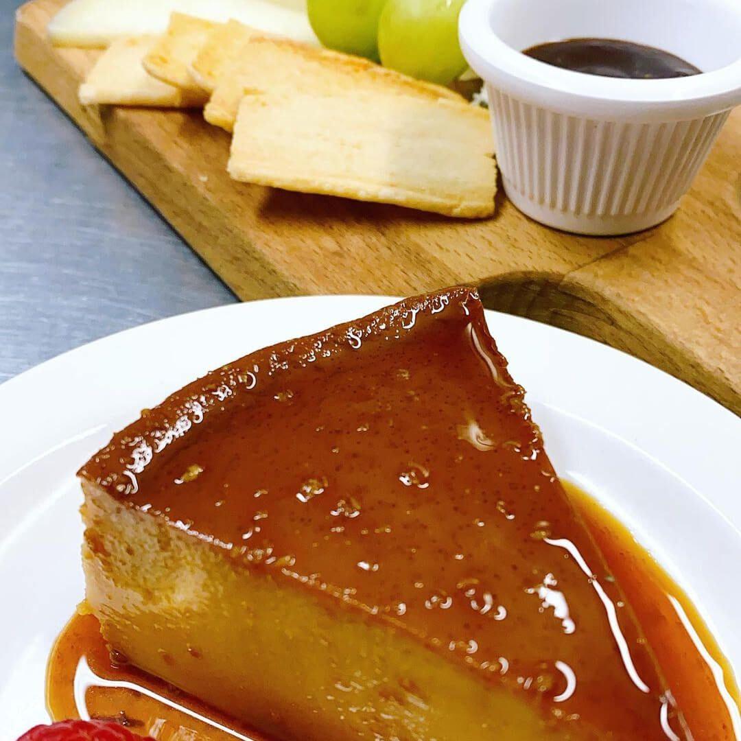La Taberna Creme caramel and Cheese board