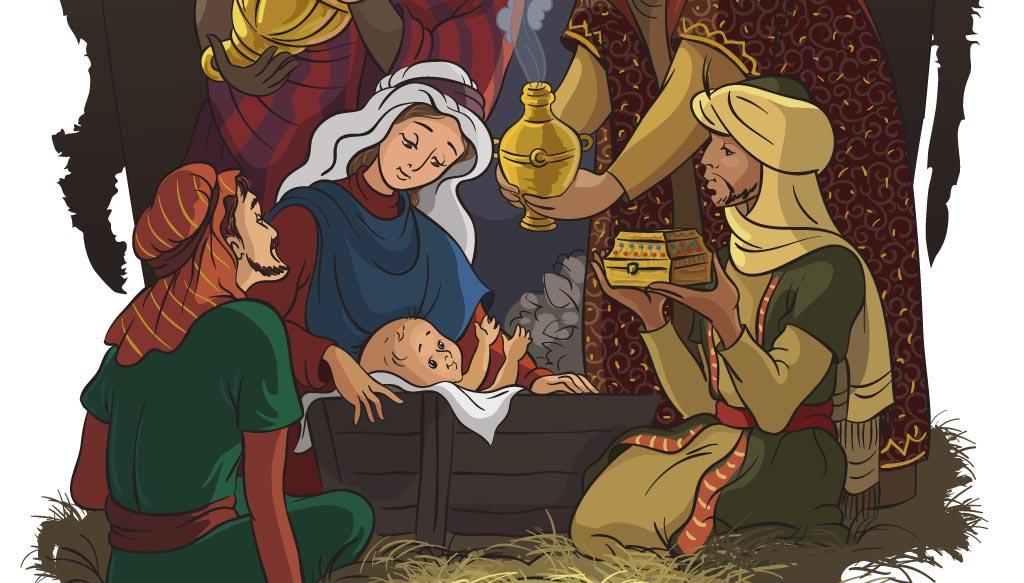 Nativity scene: The birth of Christ