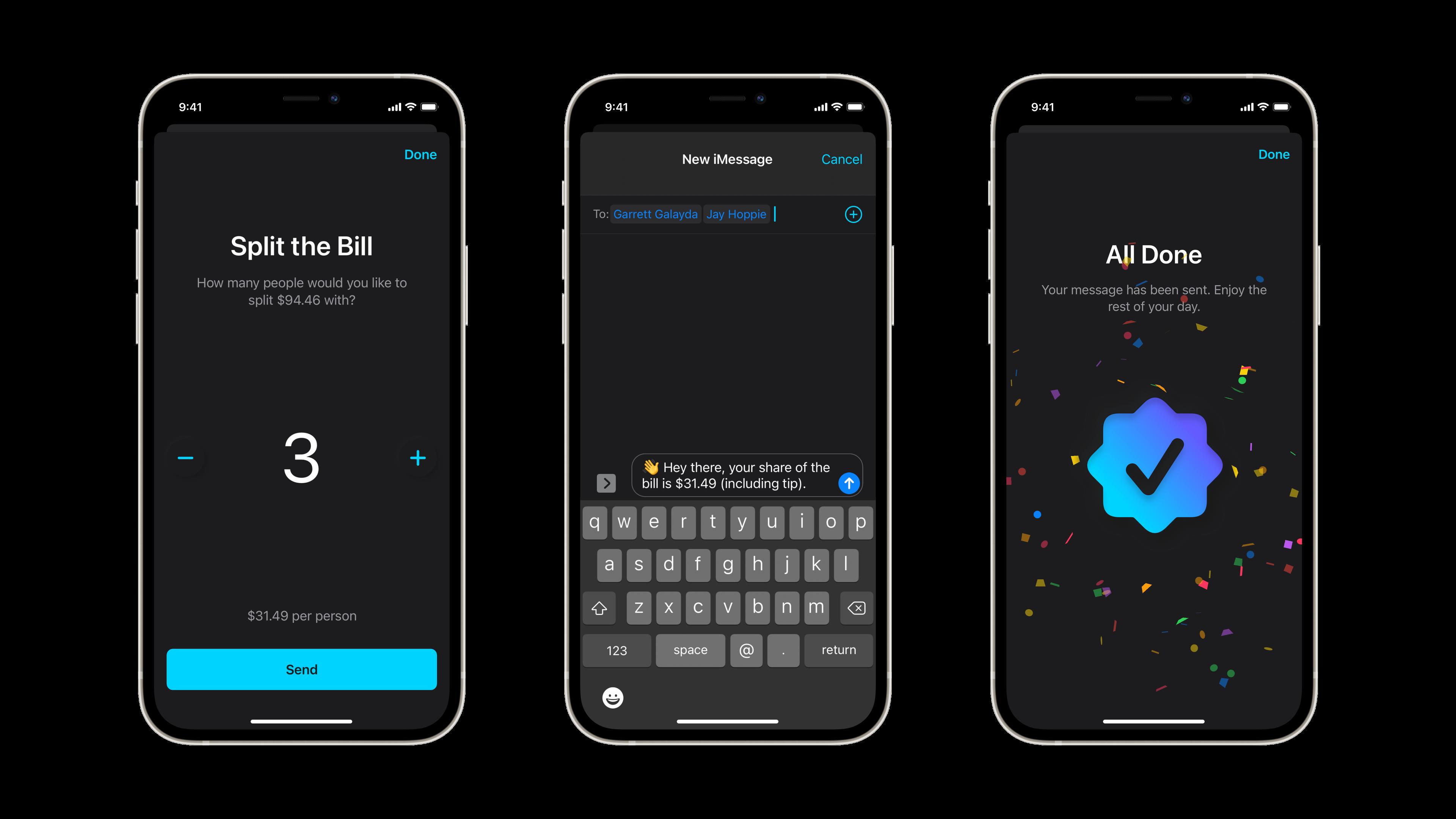 Tip App - Split the Bill