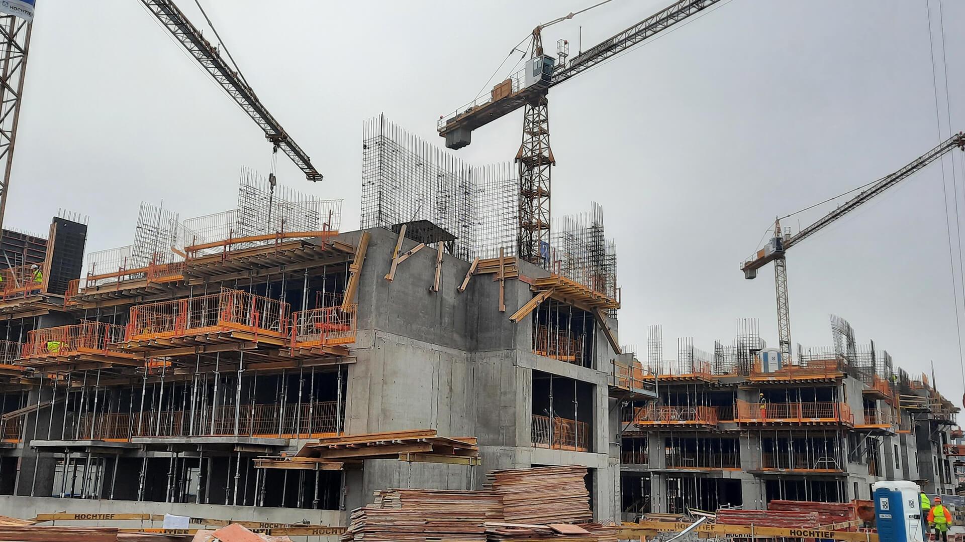 Miasteczko Jutrzenki - postęp prac - 5 stycznia 2021 rok