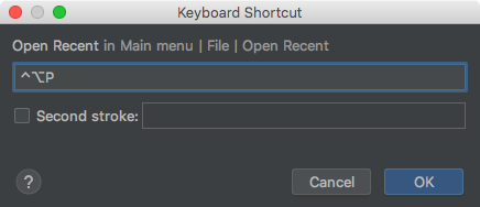 Assigning a keyboard shortcut