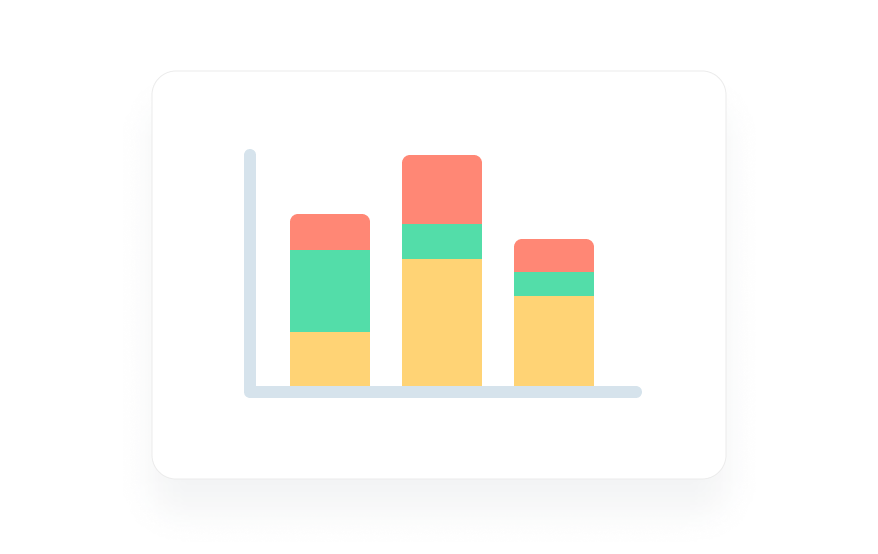 Stacked bar graph example.
