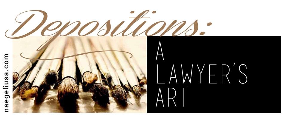 DEPOSITIONS-A-LAWYER___S-ART