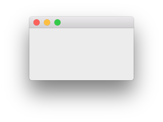 Empty window, using PyQt5.