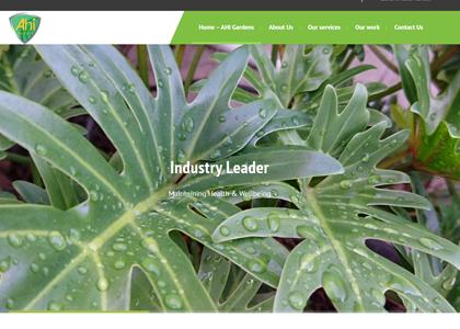 AHI Gardens Website Screenshot