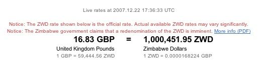 A Million Zim Dollars