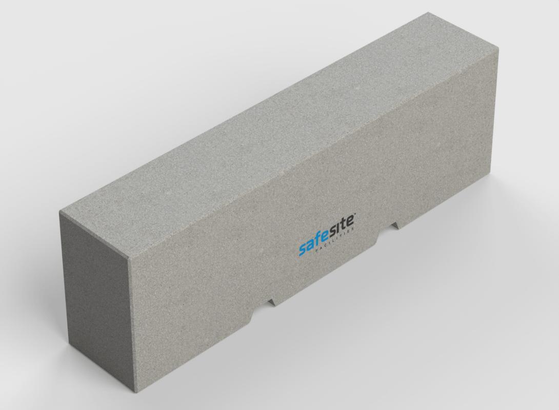 2.5m concrete barrier