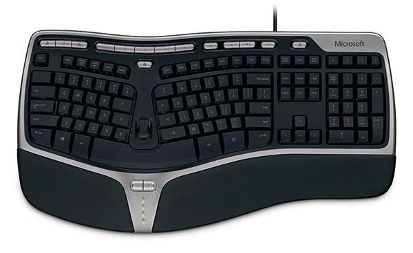 An ergonomic keyboard.