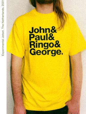 "The original ""John & Paul & Ringo & George"" tshirt design"