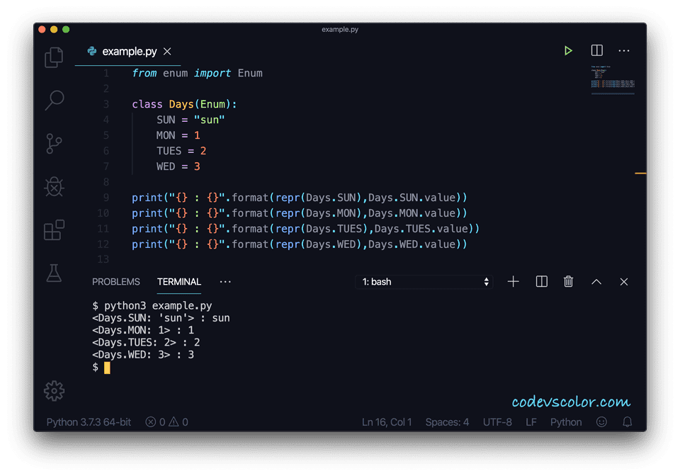 Python enumeration