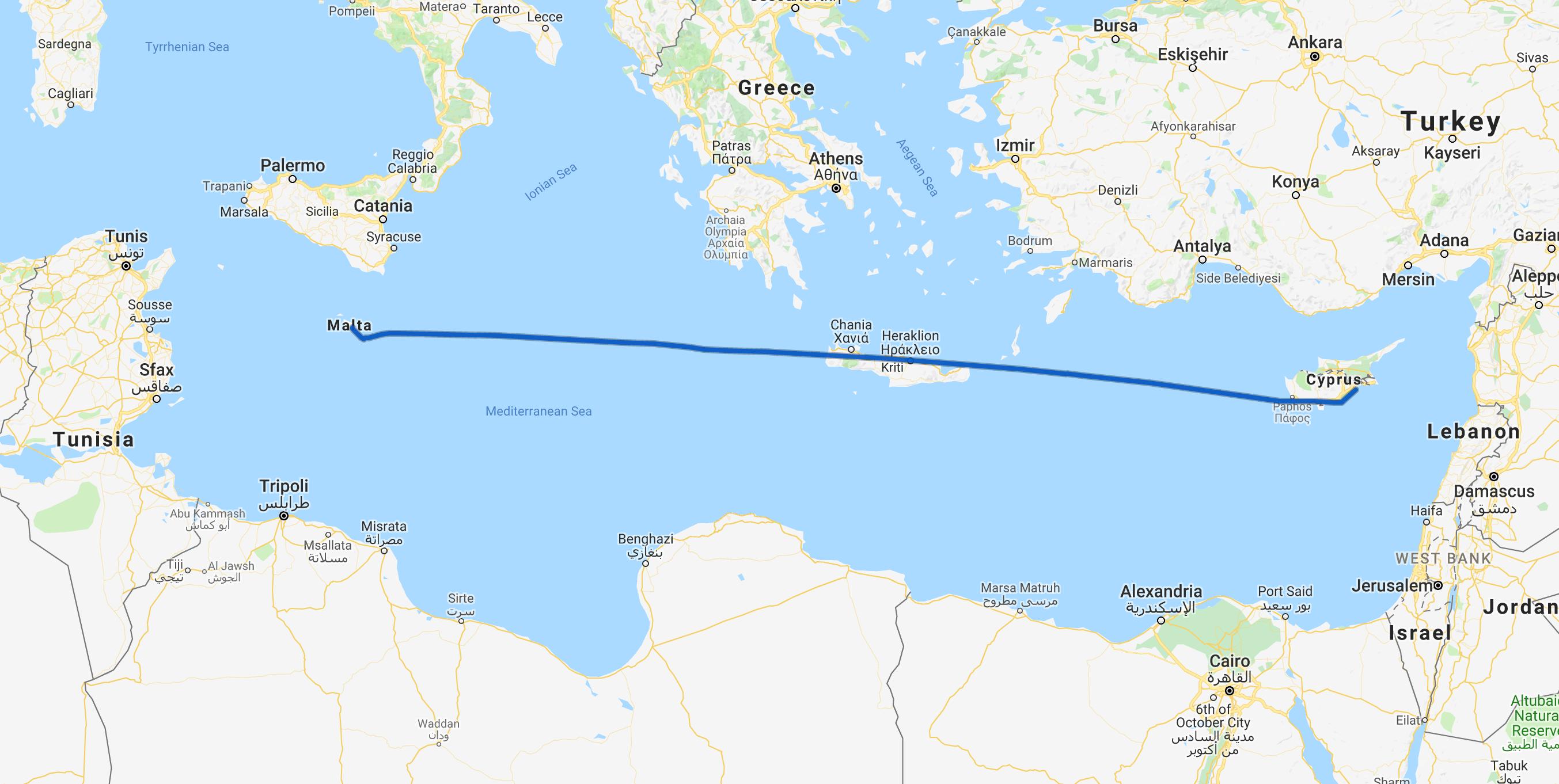 Flight tracklog.