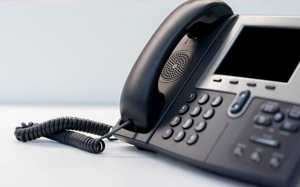 A Voice over IP telephone instrument.