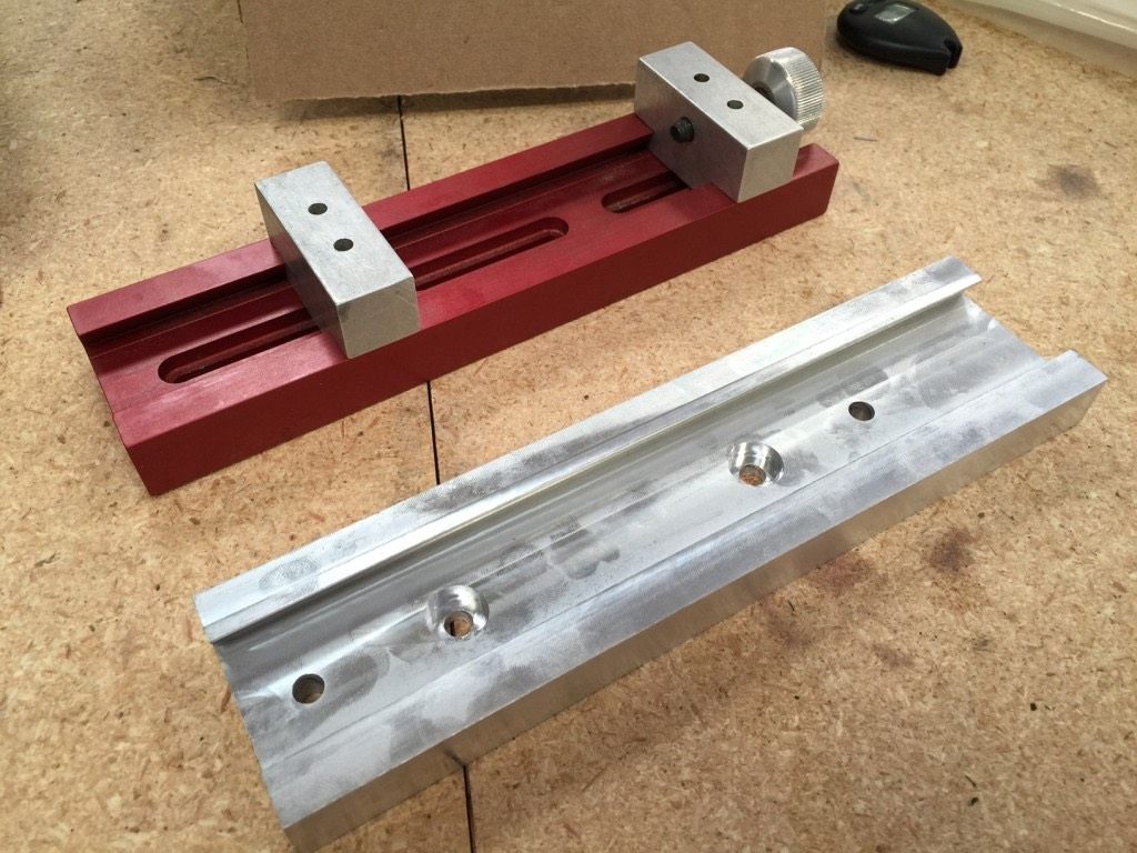 The first 'real' part we cut- the base for our Nomad Vise