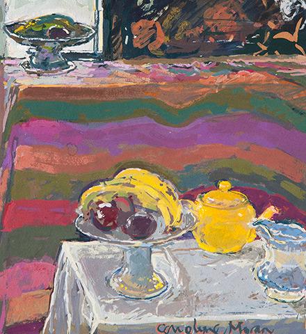 The Yellow Teapot gouache painting
