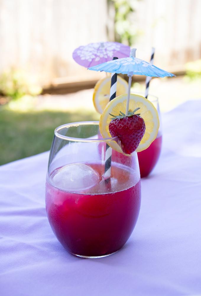 hibiscus lemonade spritzers