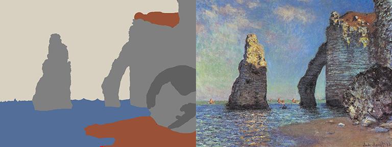 Neural doodle of Monet l'etretat