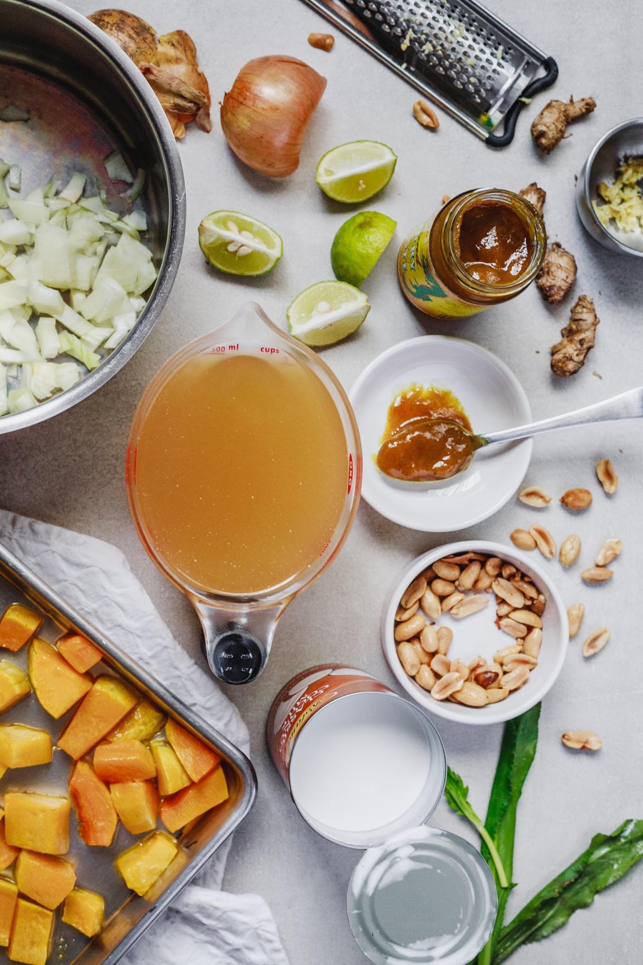 Thai Spiced Roasted Butternut Squash Soup
