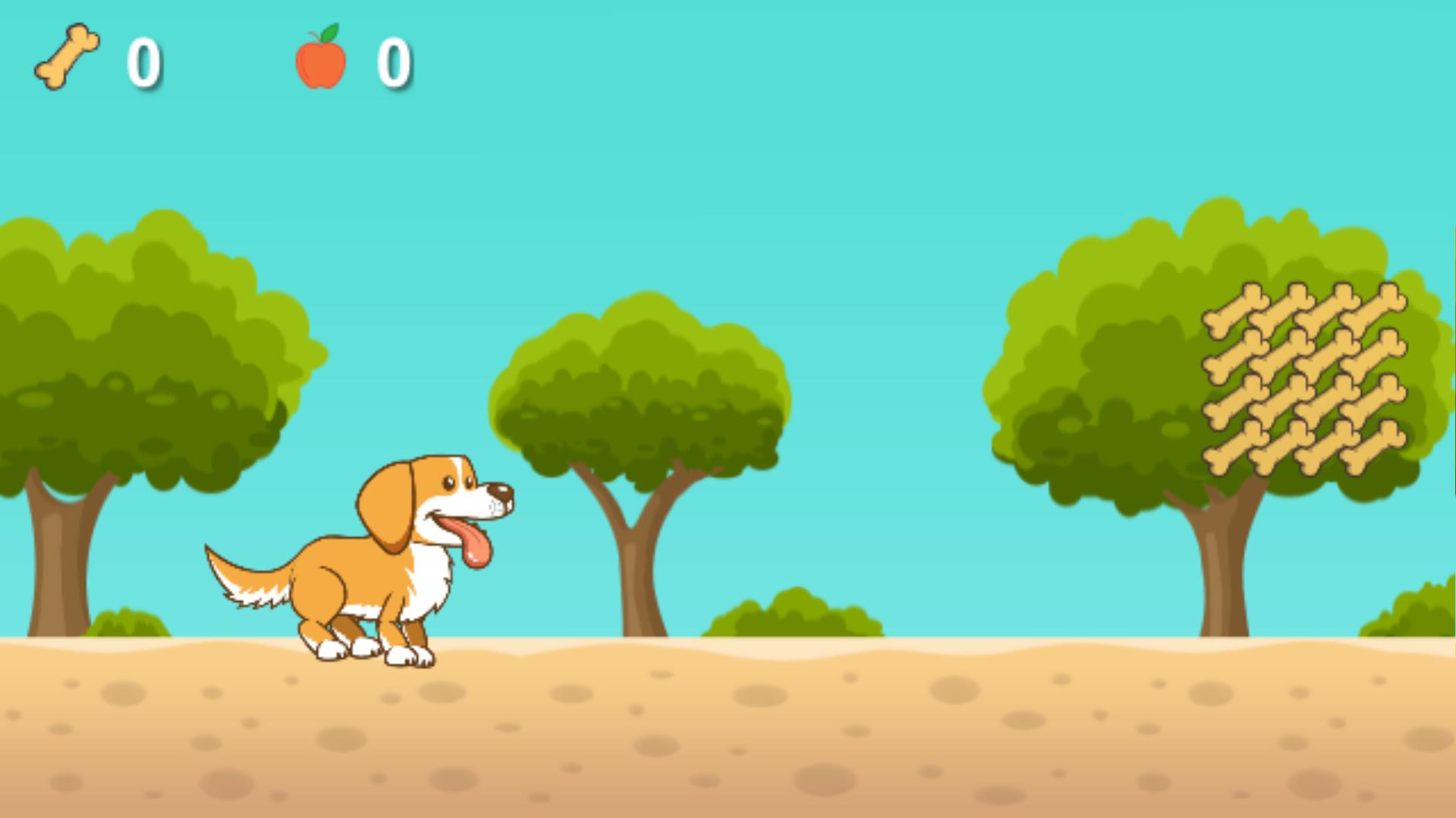 Corre, cão! Meu primeiro jogo Android para crianças