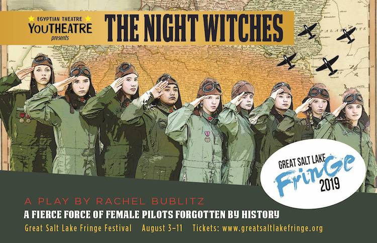 Post card for THE NIGHT WITCHES.
