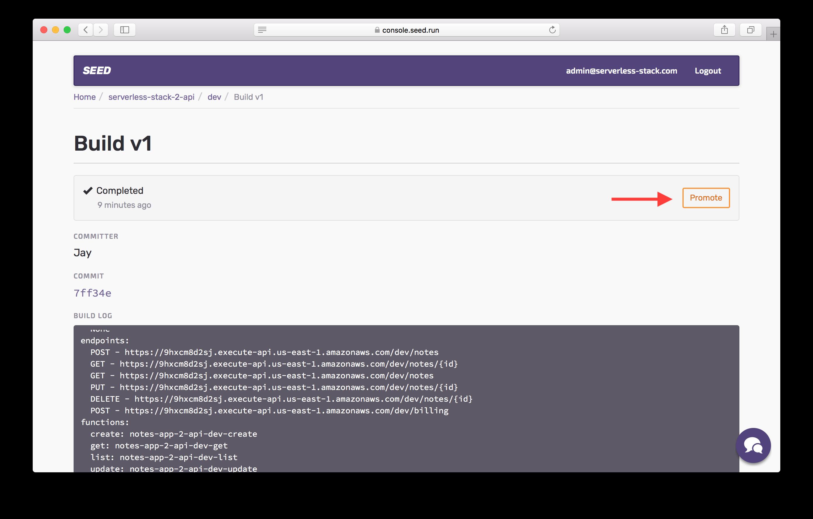 Promote dev build screenshot