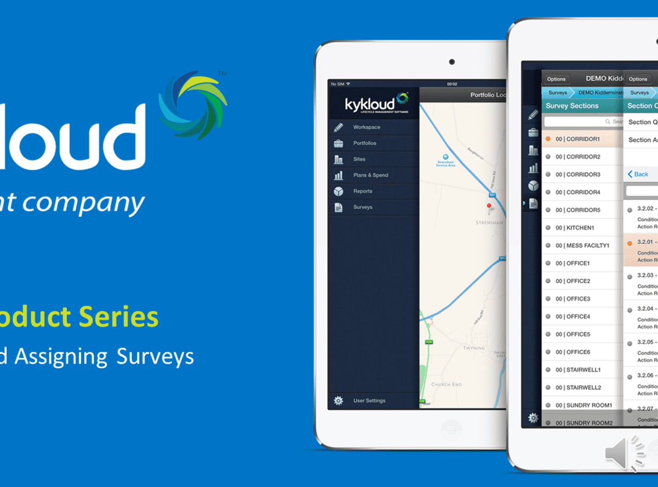 Accruent - Resources - Webinars - Kykloud Demo Series Session 4: Generating and Assigning Surveys - Hero