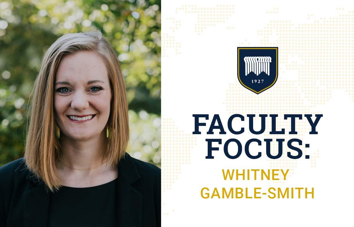 Gamble-Smith's Background Prepared Her to Lead Interdisciplinary Studies Major image