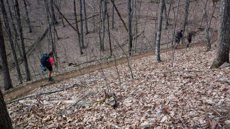 Hiking to Rock Gap Shelter