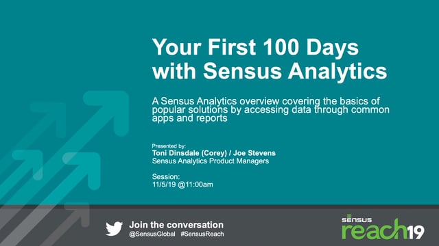 Your First 100 Days with Sensus Analytics