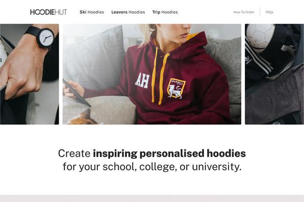 Screenshot of HoodieHut