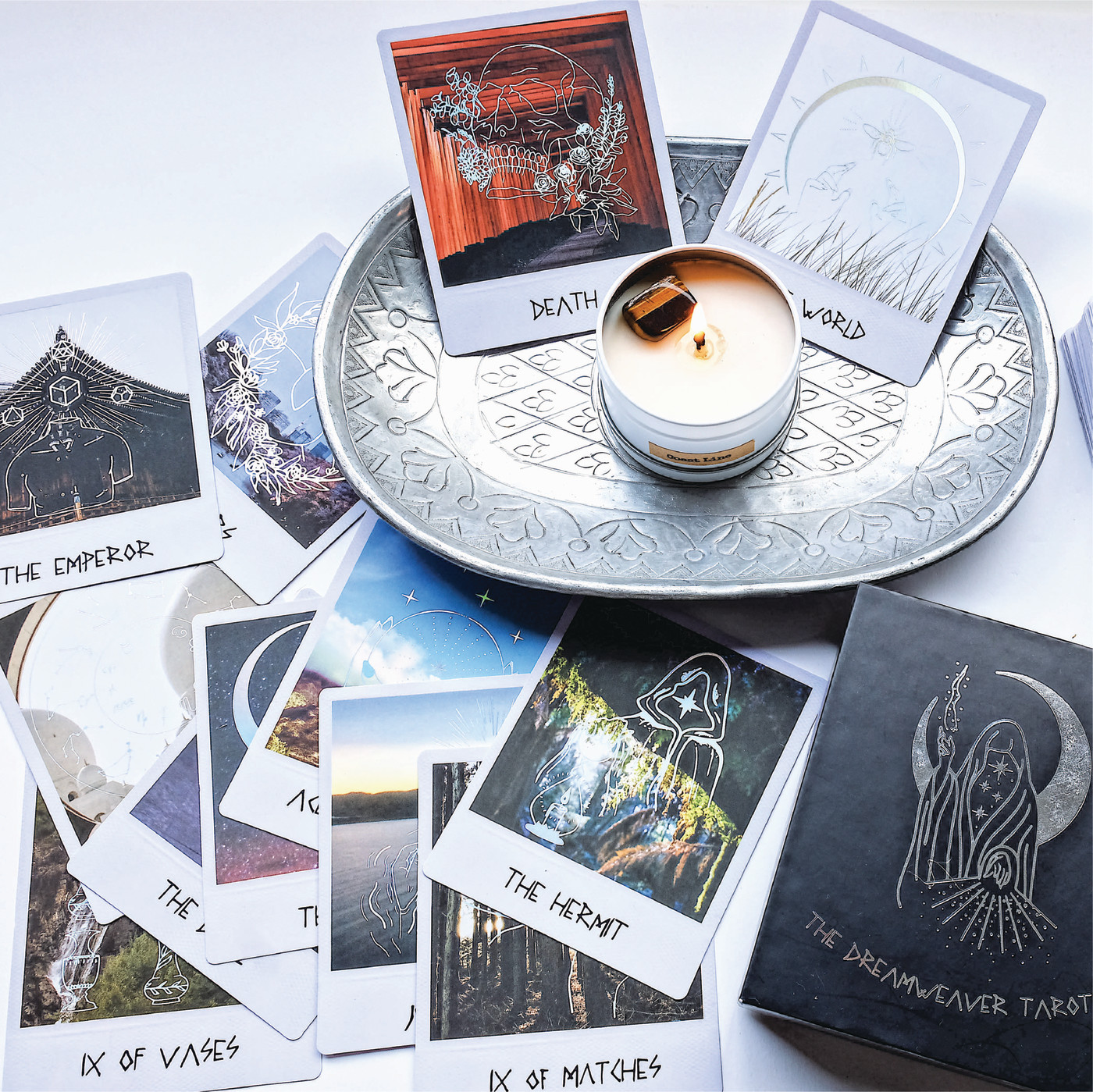 Deck with candle