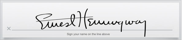 Signature fields
