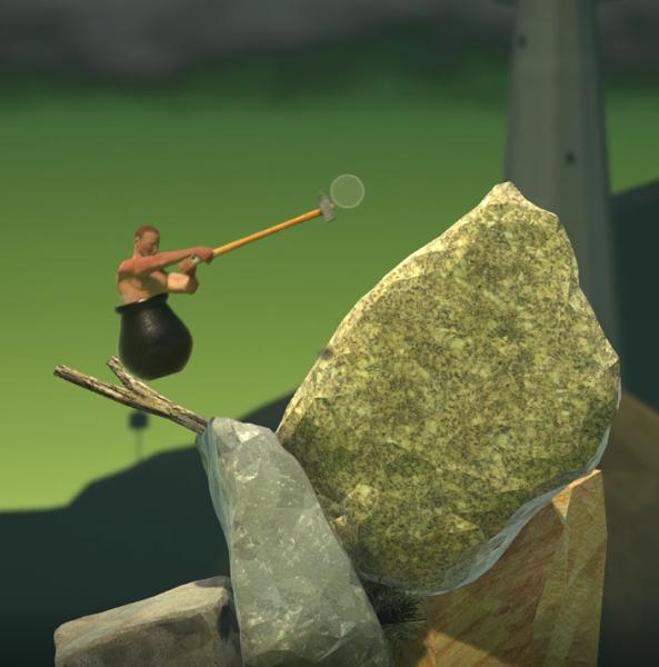 滑らかな岩