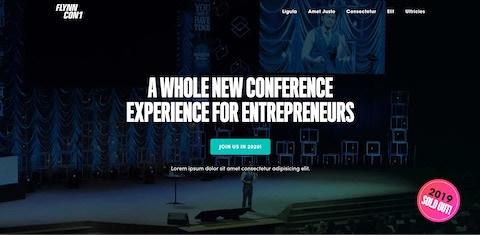 FlynnCon 2 website screenshot