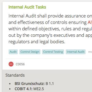 One-click actions on Assessments/ Control Sets - internal audit tasks