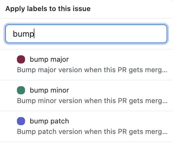 Bump labels