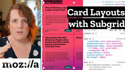 CSS snippet with card layout demo