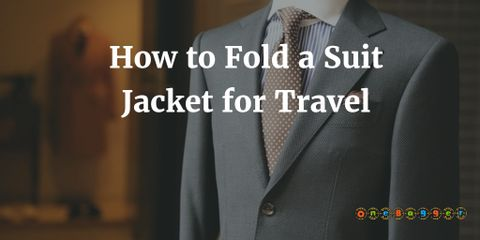 You need to pack your suit jacket smartly so that you can wear them without dry cleaning. Say goodbye to wrinkled suits and save space too.