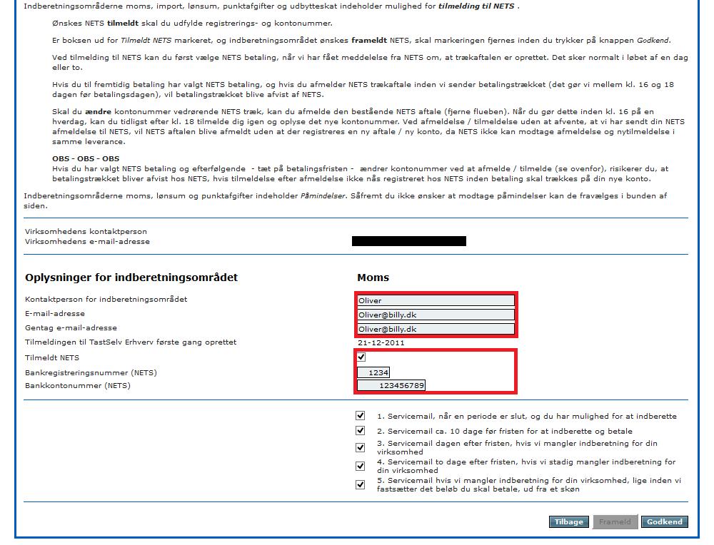 Automatisk moms betaling