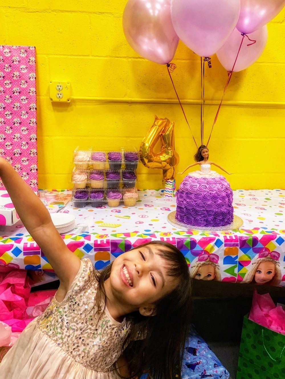 Elyse on her 4th birthday