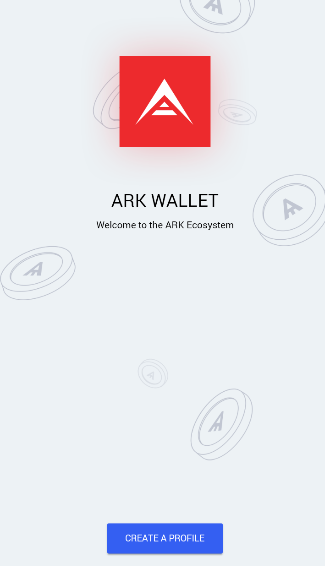 Create a Profile on ARK Mobile Wallet