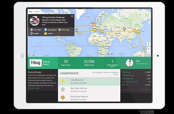 iPad showing fitbug demo