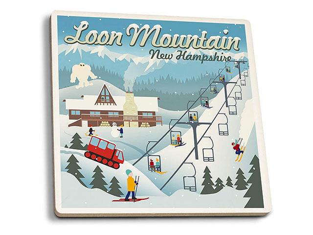 Loon Mountain (NH) Drink Coasters