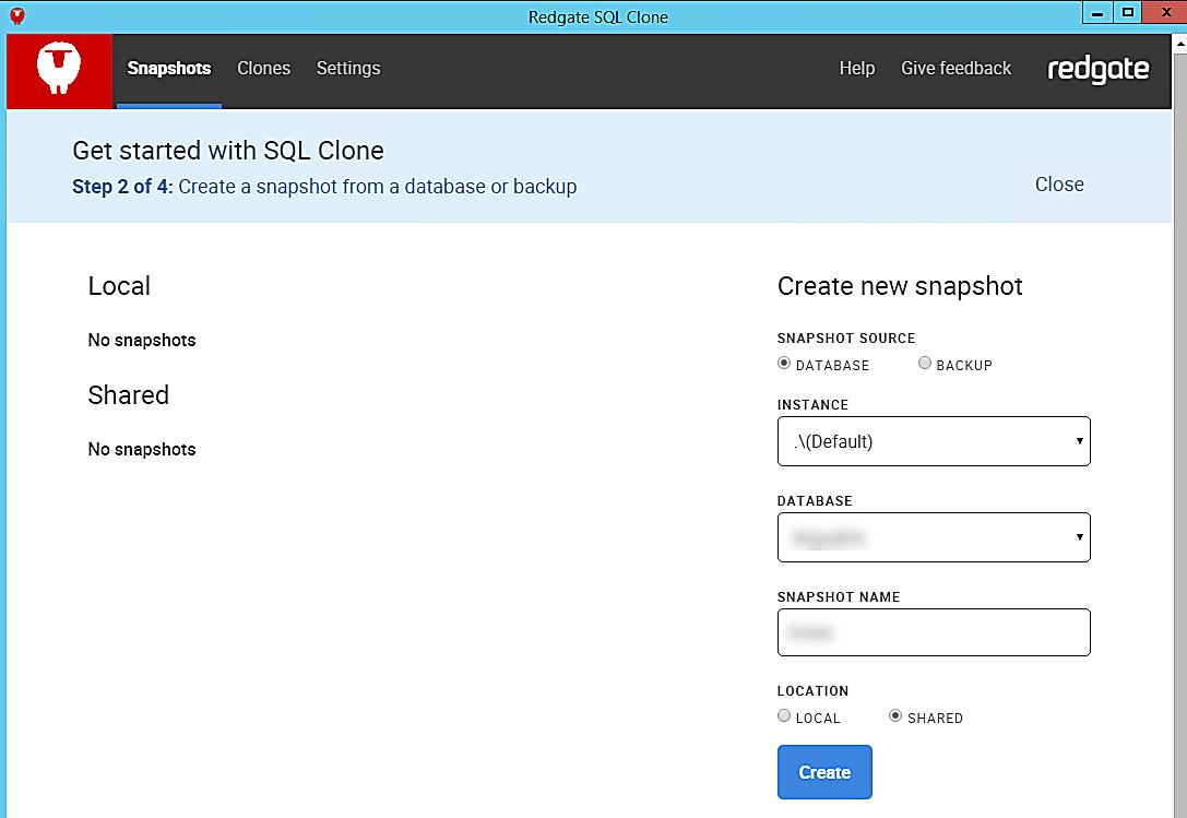 Clone Setup Creating Clone