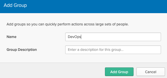 Okta group config