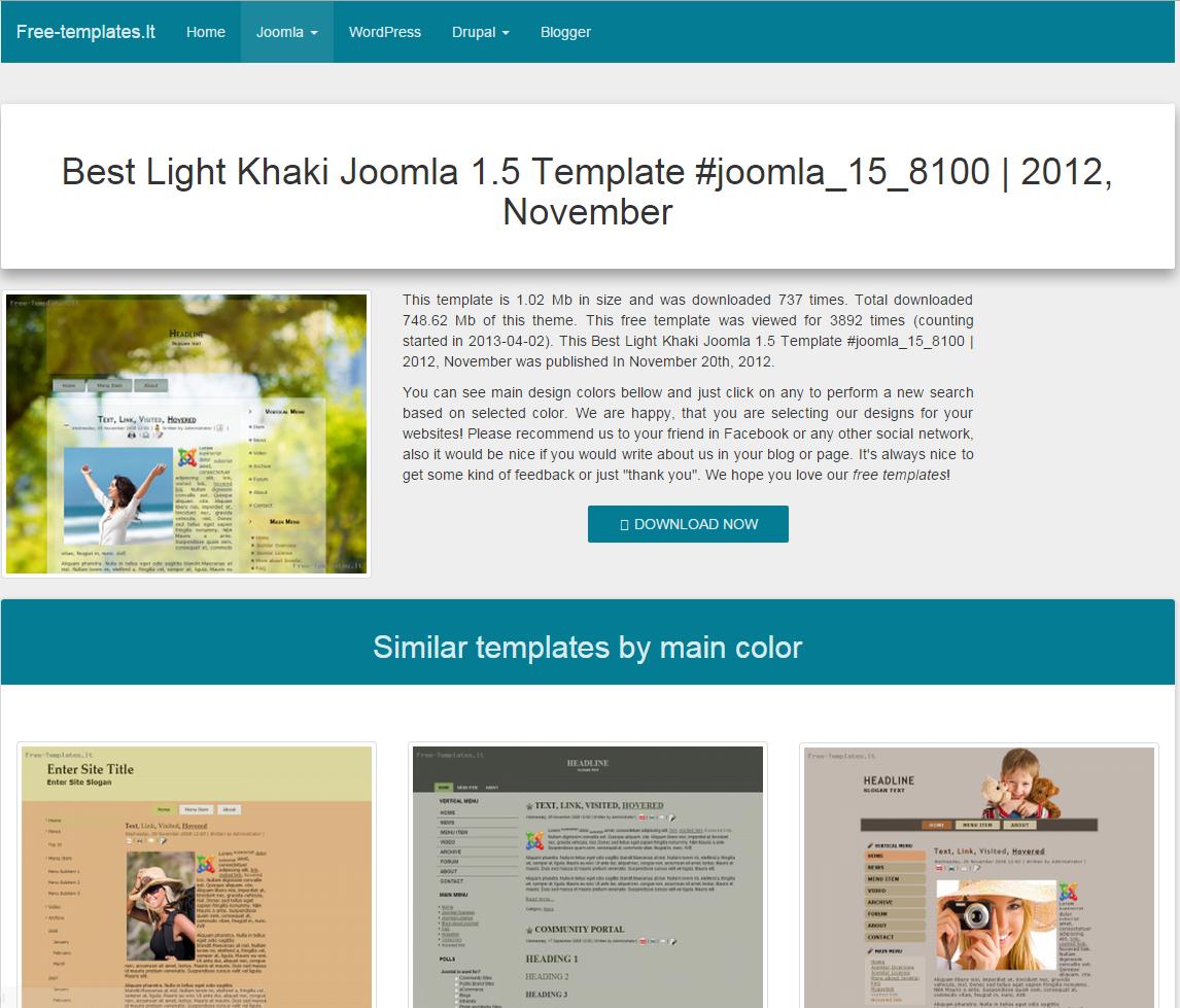 Joomla 1.5 template