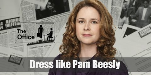 Pam Beesly's style tends to speak for her personality which is sweet, polite, and kind