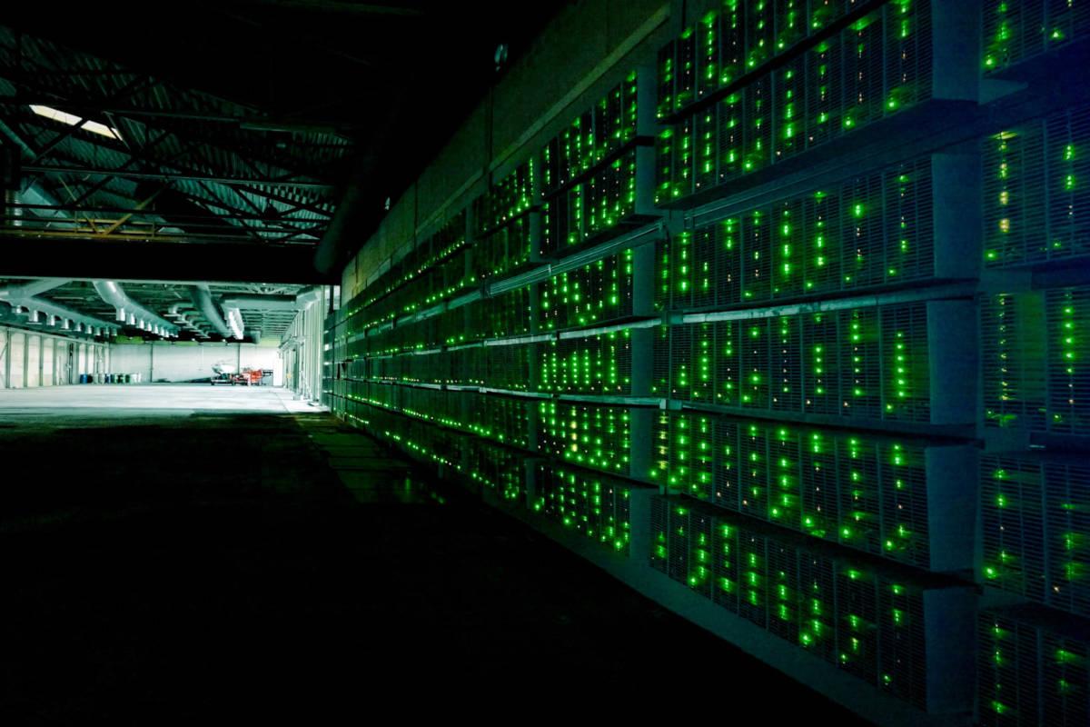 interior of a Bitcoin mine in Russia