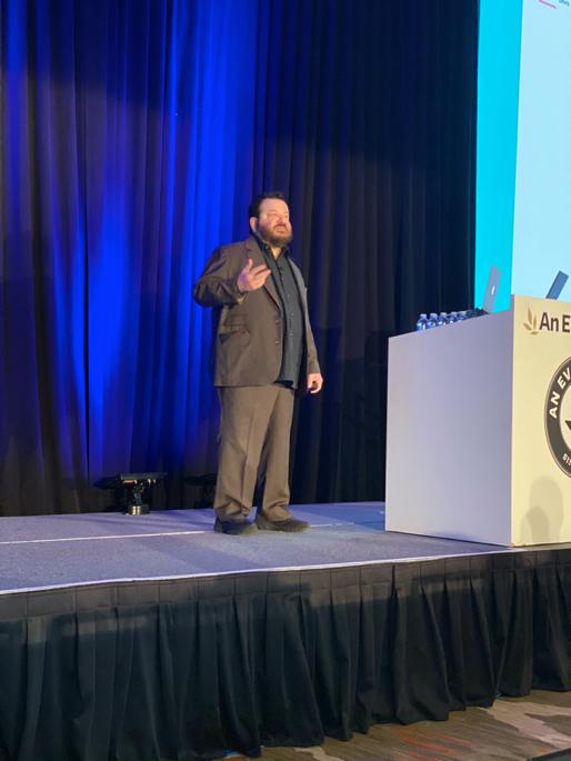 Jeffrey Zeldman on stage at An Event Apart Denver