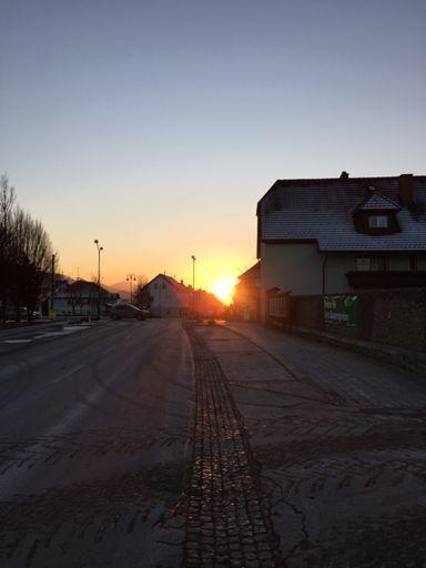 Sonnenuntergang in Mürzhofen